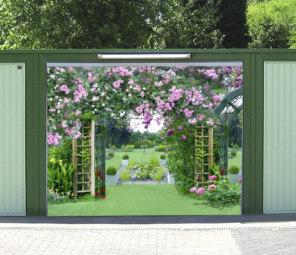 3D Green garden 43 Garage Door Murals Wall Print Decal Wall Deco AJ WALLPAPER UK