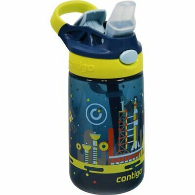 Contigo Autospout Straw Gizmo Flip Kids Water Bottle Blue 14 Oz