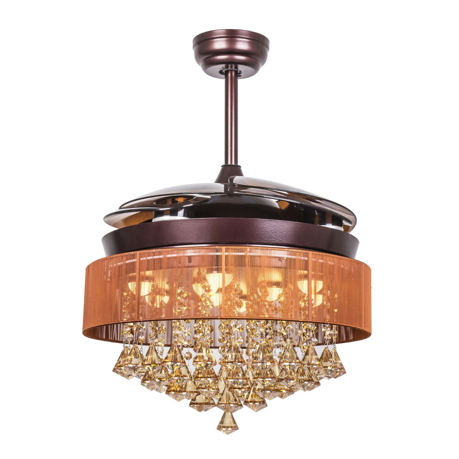 Image of: 46 Crystal Ceiling Fan Lights Tiendamia Com