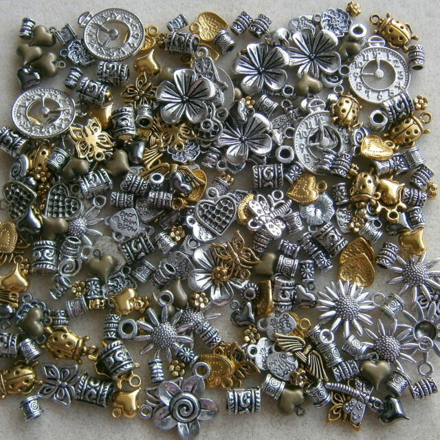 50 Mixed Metal Charms & Beads Jewellery Making Crafts ~ Little Crafty Beaders