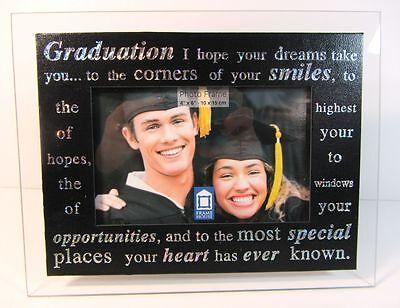 Graduation Glass Photo Frame 4 x 6 Gift FREE SHIPPING!