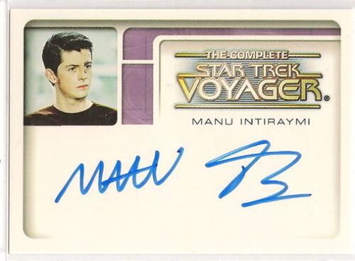 Complete Star Trek Voyager Autograph Card A1 Manu Intiraymi Icheb