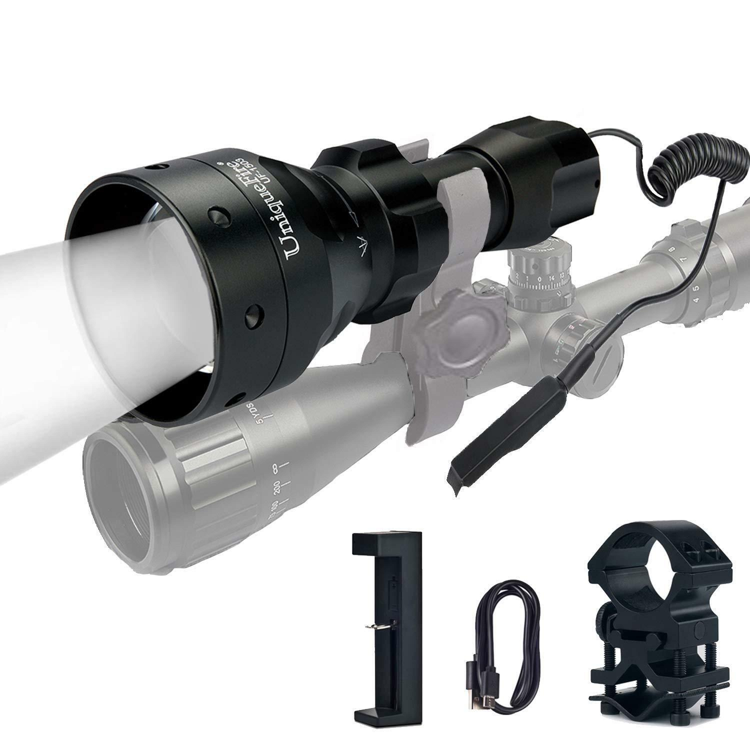 Hunting 1503 T50 IR 940NM LED Flashlight 3 Modes Torch+Charger+Tail Switch+Mount