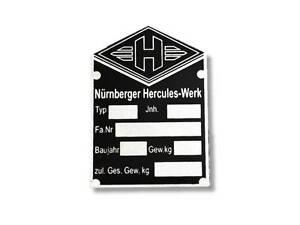 Hercules-Typenschild-Schild-id-plate