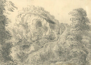 Mary Anne Baignis - c.1825 Graphite Drawing, The Castle on the Hill