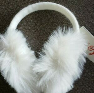 Details about  /New Cat /& Jack Red//Pink Faux Fur Toddler//Kid Ear Muffs w// Pink Heart