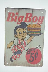 Bob-039-s-Big-Boy-Hamburgers-5c-Fast-Food-Diner-Restaurant-Retro-Metal-Sign-8-x-12-034