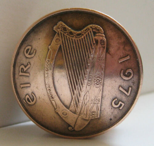 Snuff Box Birth Year Keepsake Irish Two Pence Coin Screw Lid Pill Box