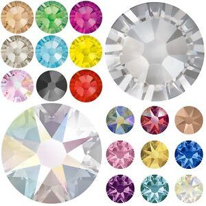 Image is loading 1440-Swarovski-2058-2088-Flatback-Rhinestones-Crystal -Wholesale- dffbe40fbba7