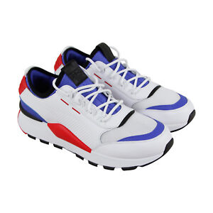 a48239493b5 Puma Rs-0 Sound Mens White Canvas   Mesh Athletic Lace Up Running ...