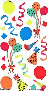 La imagen se está cargando Ek-Success-Sticko-Stickers-Celebracion-Globos -Sombreros-Serpentinas- 3dfd63b8099