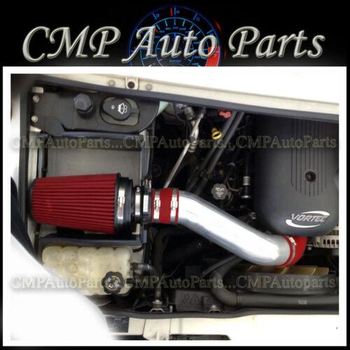 2003-2007 HUMMER H2 6.0 6.0L V8 HEATSHIELD COLD AIR INTAKE KIT SYSTEMS RED