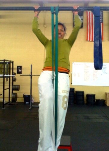 2 #5 Resistance Bands Pullup CrossFit Stretch 120Lbs
