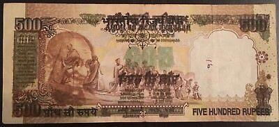 India 500 Rupee Note Offset Print Error Ultra RARE   eBay