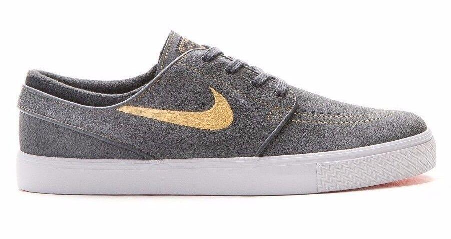 Nike zoom stefan janoski antracite conosciuto oro brillante cr 333824-076 scarpe da uomo