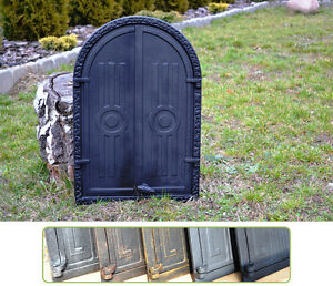 Bread Oven 39,5 X 59 Cast Iron Fire Door Clay Pizza Stove Smoke House Dz062 Easy To Repair