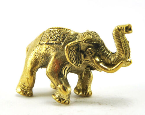 Wealth brass sculpture elephant rich luck business charm thai amulet holy money