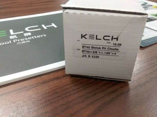 "3//8/"" x 4/"" Shrink Fit BT40 end mill holder Germany KELCH brand G2.5//25000RPM-new"
