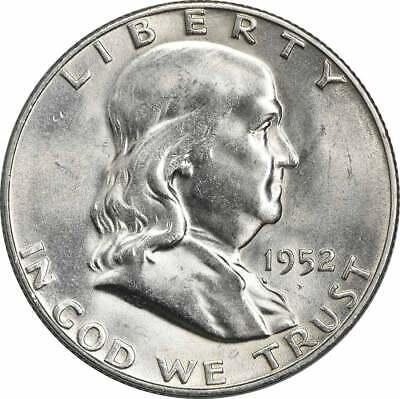 1951 Franklin Silver Half Dollar AU Slider Uncertified