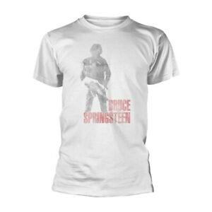 Bruce-SPRINGSTEEN-034-OLOGRAMMA-034-Bianco-T-shirt-UFFICIALE-NUOVO