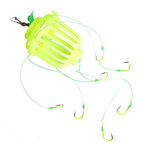 angelkorb Futterkorb-Feeder Angel Appât nourriture spirale avec 7 vorfach-crochet
