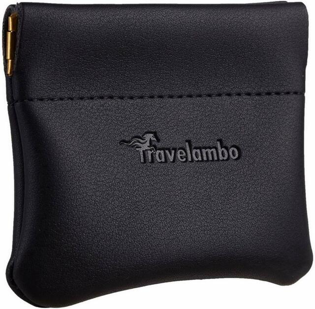 Travelambo Leather Squeeze Coin Purse Pouch Change Holder For Men & Women |  eBay