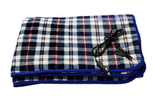 IDEAL XMAS GIFT! 12v Heated FLEECE Travel Blanket 150cm x 115cm / VC13NC0020