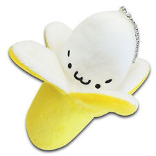 "5"" Yellow Smiling Banana Fruit Stuffed Animal Soft Plush Toy Keychain New Cute"