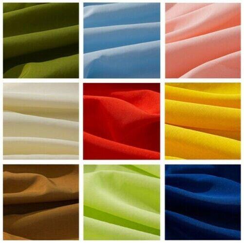 25 Yards Poly Popeline Polyester Tissu Nappe Table Revêtement Robe 60   25 Col