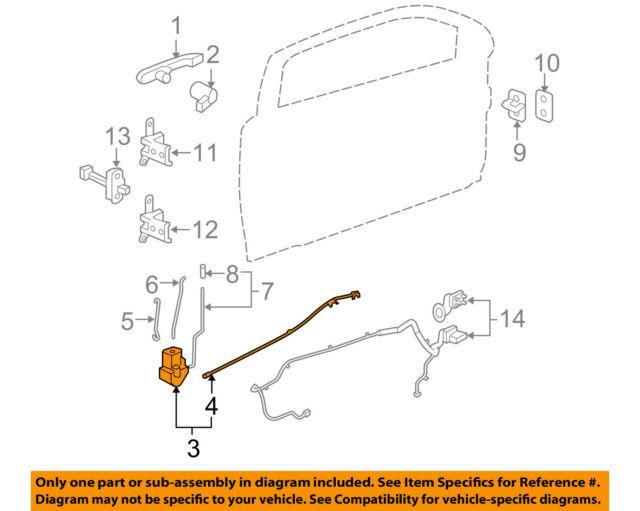 Chevrolet Gm Oem 09 10 Cobalt Front Door Lock Actuator Motor 25938088