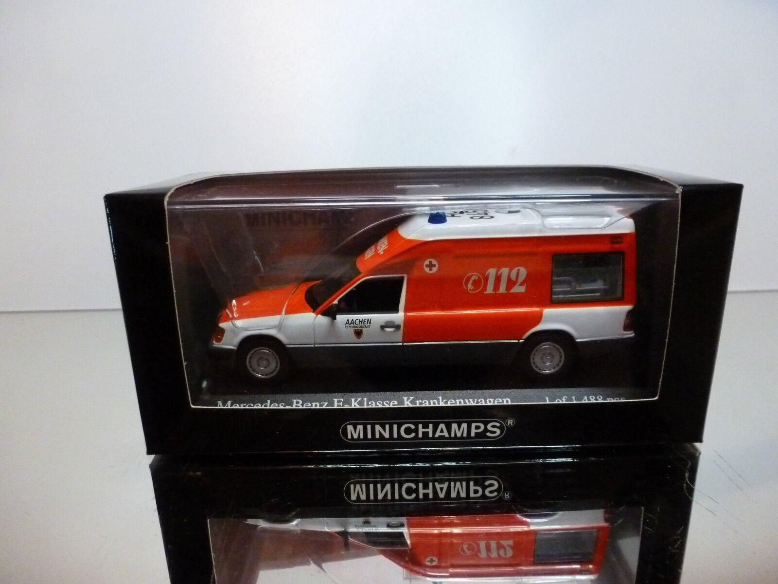 MINICHAMPS 37070 MERCEDES AMBULANCE AACHEN - PROMO 1 43 RARE - EXCELLENT IN BOX