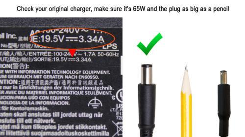 Genuine Original DELL Latitude E5400 PP32LA 19.5V 3.34A 65W AC Charger Adapter