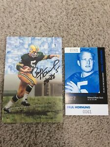 GREEN-BAY-PACKERS-QB-PAUL-HORNUNG-AUTOGRAPHED-HALL-OF-FAME-CARD