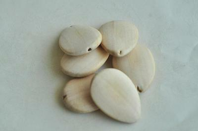 8pcs Water Drop Wood Bead Natural Unfinished Wooden Handmade Craft Necklace Punk