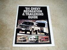 1984 Chevrolet Trailer towing guide Suburban K10 pickup Blazer sales brochure