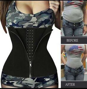 Neoprene-Sweat-Waist-Trainer-Belt-Body-Shaper-Abdominal-Trimmer-Corset-Fat