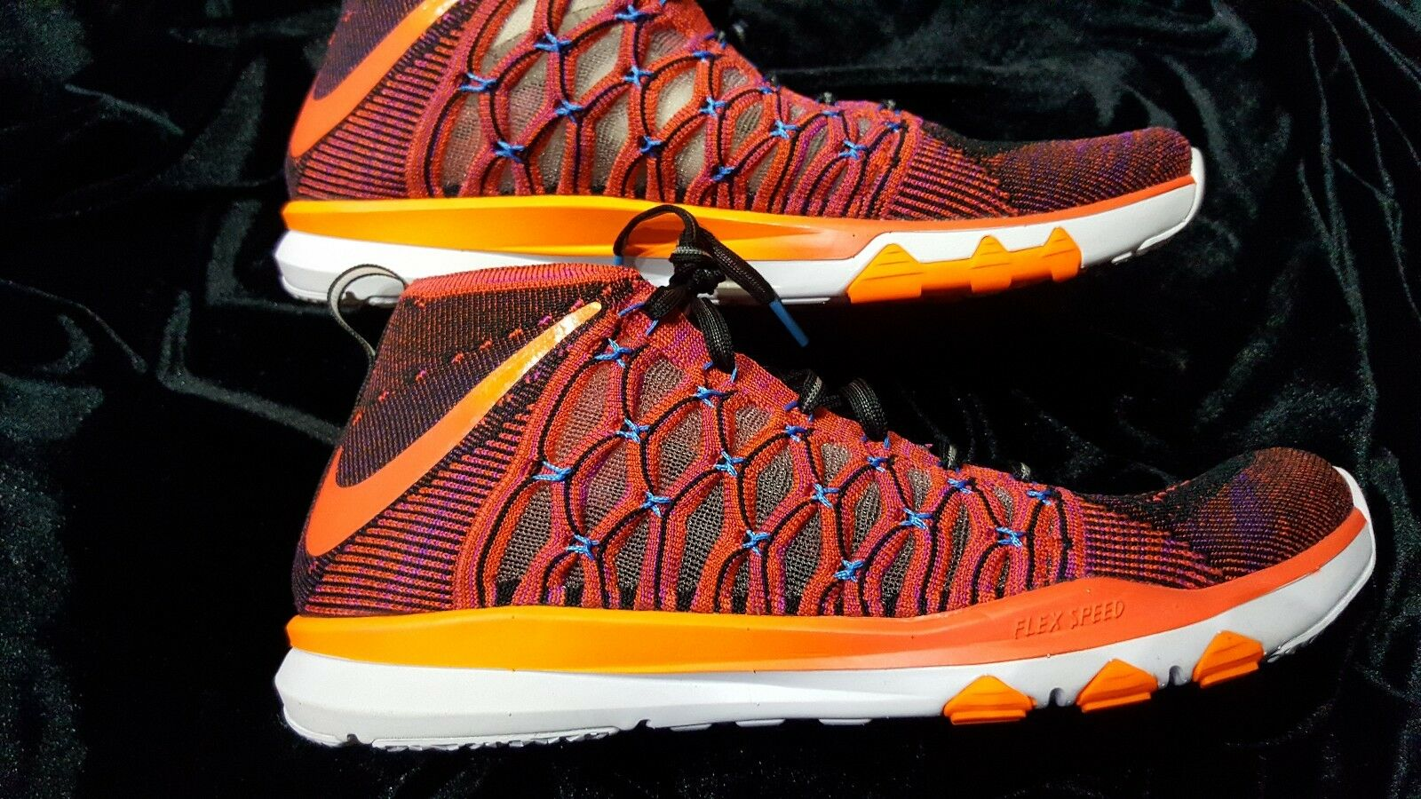 purchase cheap 2835c 056d6 MENS NIKE TRAIN ULTRAFAST FLYKNIT CRIMSON orange SZ 10.5 03c0b1