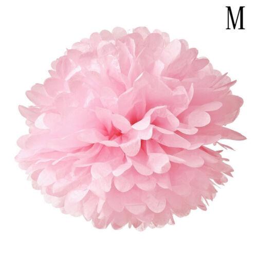 5stk 15//20//25cm Pom Pom Papier Blumen Ball Hochzeit Party Deko Dekoration G0J2