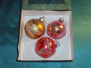 Christbaumkugeln Eislack Rot.Details Zu 3 Alte Christbaumkugeln Glas Gold Rot Rosa Blumen Weihnachtskugeln Vintage Cbs