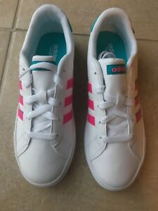 Details about adidas Daily Team Sneakers (BC0159) Size 6 WhitePink
