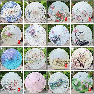 Vintage Style Flower Art Oil Paper Umbrella Parasol Dance Prop Decor