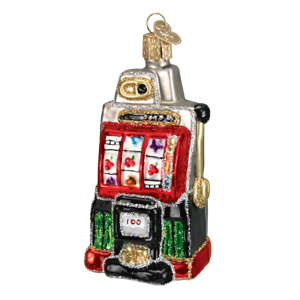 Old-World-Christmas-SLOT-MACHINE-44038-N-Glass-Ornament-w-OWC-Box