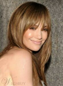Shoulder Length Long Straight Light Brown Synthetic Women Wigs Ebay
