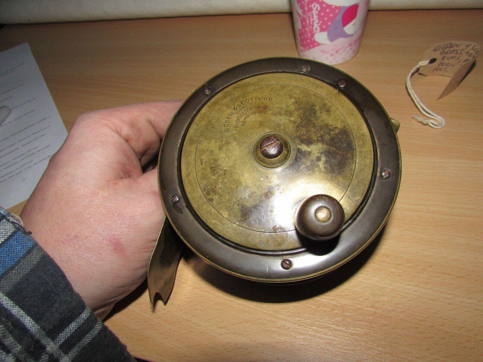Vintage xx rare ogden scotford heatons patent ebonite  salmon fly fishing reel  top brands sell cheap