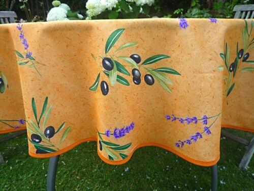 Tischdecke Provence 160 cm rund Oliven terra Frankreich bügelfrei pflegeleicht