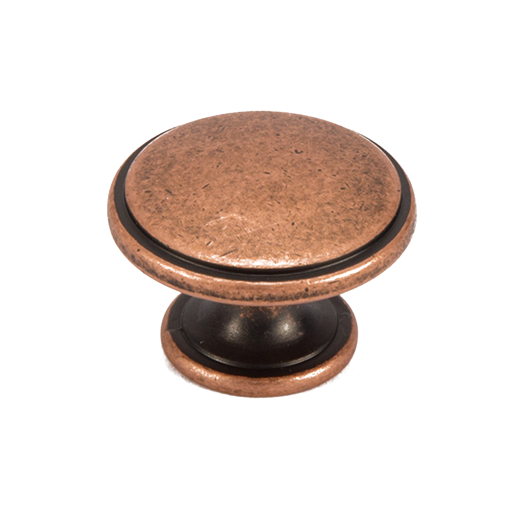 20 x ROUND KNOB 38MM COPPER KITCHEN BEDROOM CABINET DOOR DRAWER HANDLE