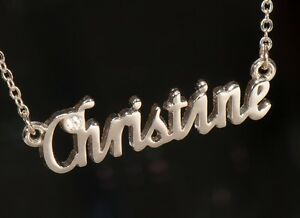 CHEYENNE Name Necklace with Rhinestone Gold or Silver Tone