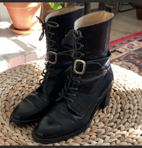 Joan And David Lace Up Victorian Boot 38 Made In I