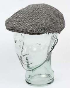 Image is loading Jaxon-Hats-Herringbone-Flat-Cap-in-Grey-wool- 1db9b63f9f2