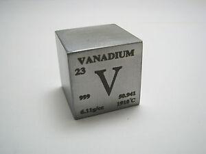 1 inch 254 mm pure vanadium metal element cube periodic table 999 image is loading 1 inch 25 4 mm pure vanadium metal urtaz Choice Image